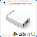 Customized 40W 5V 8A 5 Port Desktop Charger USB Wall Charger for ipad,iphone,android,samusung tab