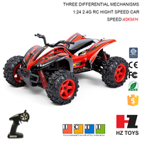 New product 1:24 2.4GHz four-wheel-drive big foot truck, rc mini monster truck toy
