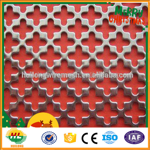 anping manufacture colored artistic decorative perforated metal sheet