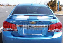 UNPAINTED Racing Trunk Lip Spoiler LED Fit For Chevy Cruze 2009 UP T003F