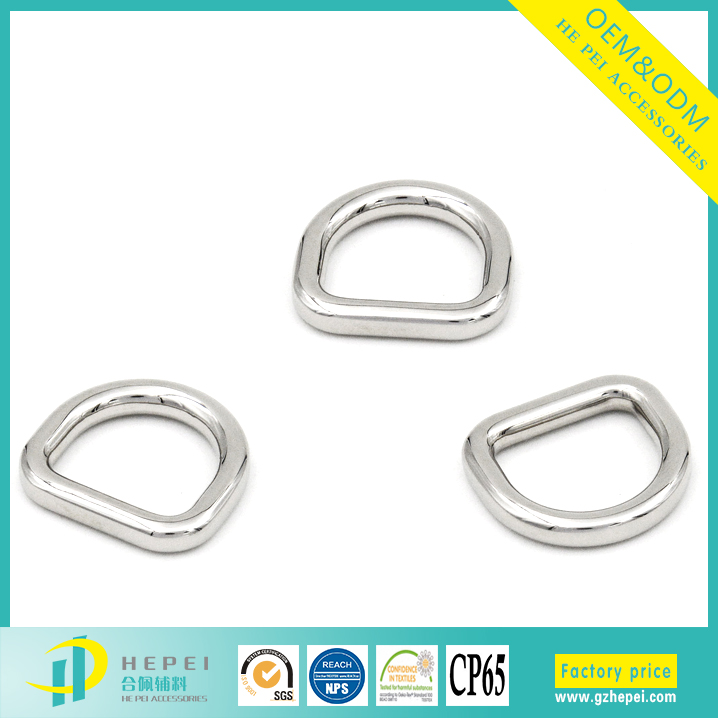 New belt buckle type zinc alloy metal d shape buckle for women coats