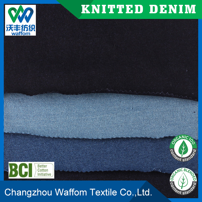 wholesale 100cotton jersey knit denim fabric clothing materials