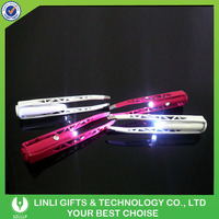 Custom Logo Printed Metal Lighting Eyebrow Tweezers For Women MakeuP