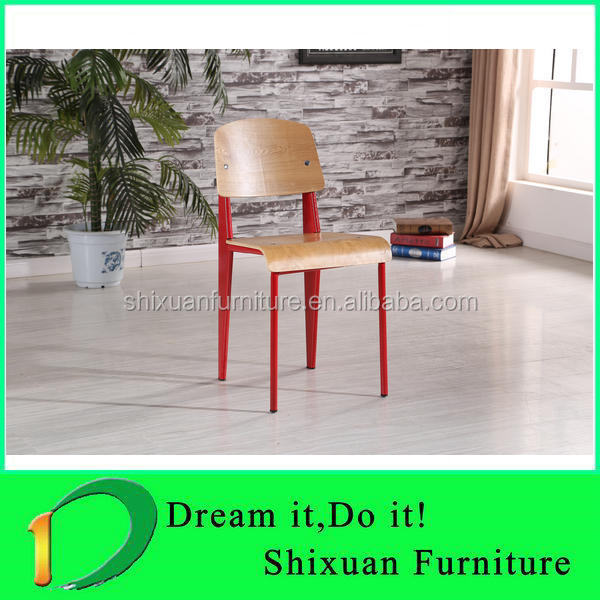 popular style metal frame wood dining chair