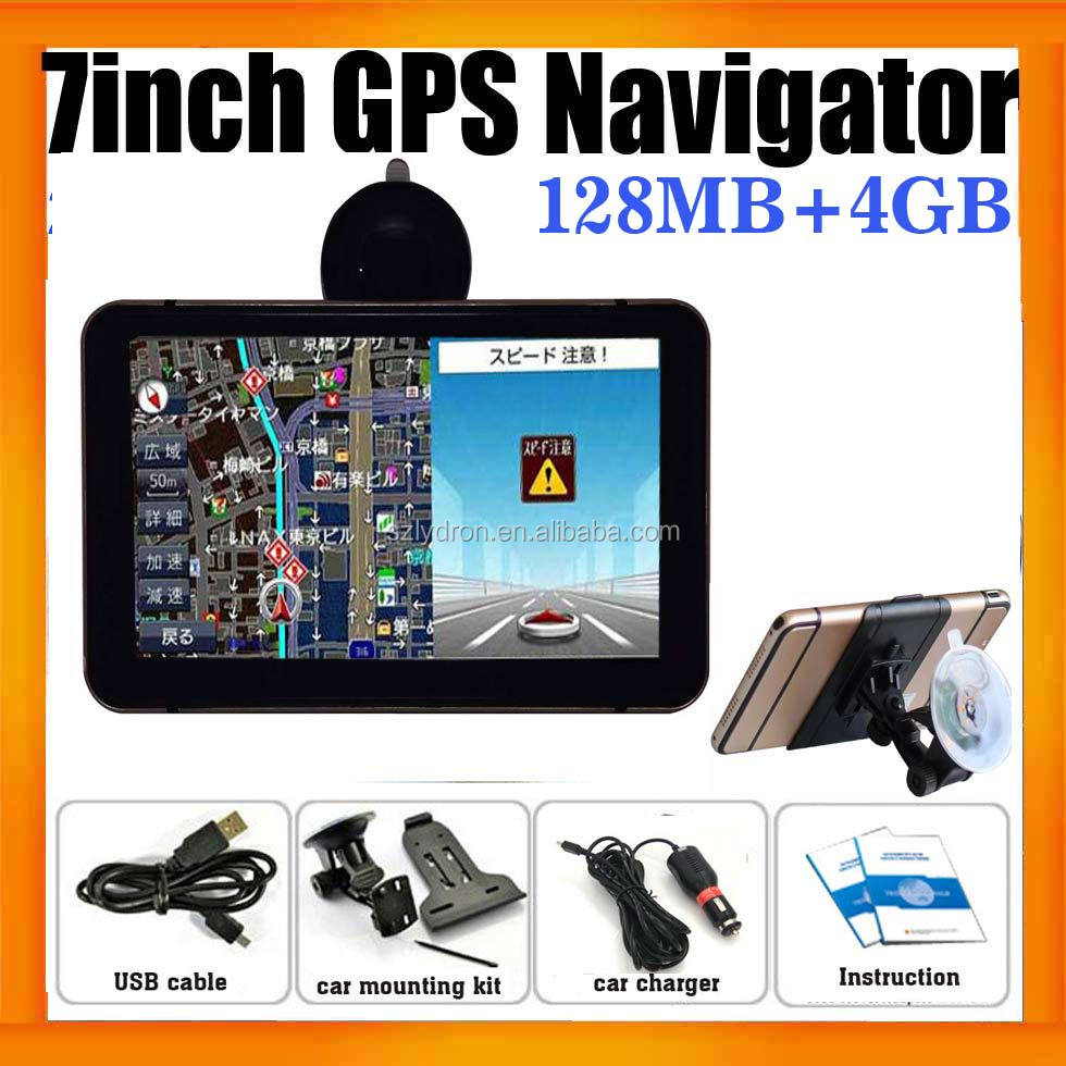 "7"" Best Car GPS Navigation system With built in 4GB Memory and Free maps"