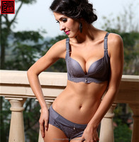 Lovely women blue underwear OEM/ODM serivce free samples fancy sex bra and panties