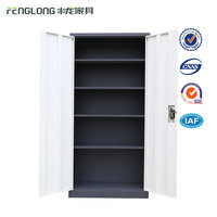 Durable Commercial Office / School 2 Swing Door Steel Filing Cabinet/ Metal Stationery Cupboard for Sale