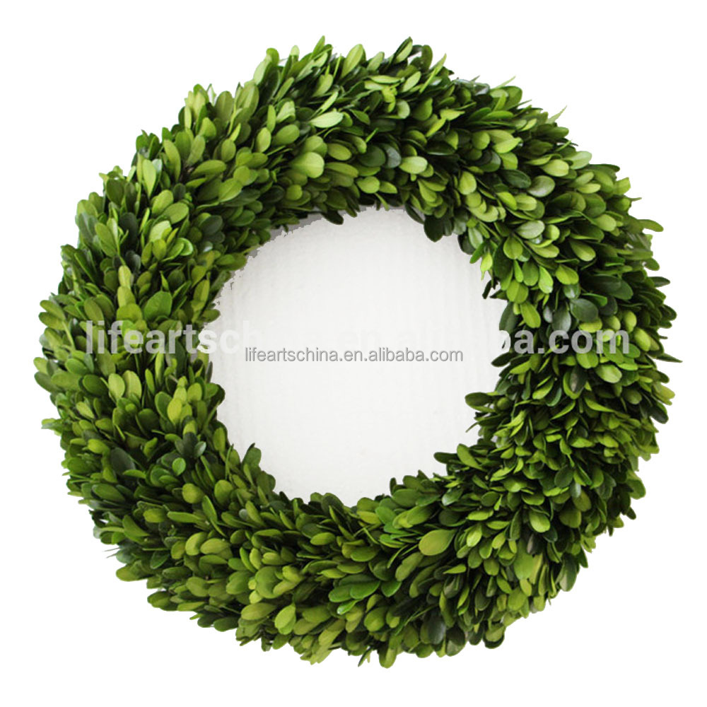 plant garland, preserved boxwood wreath, good price and design