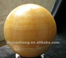 Charming yellow jade stone carved ball,natural polished gemstone spheres,yellow crystal sphere