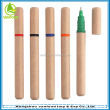 Eco friendly promotional mini paper recycled ballpoint pens