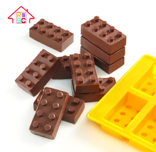 10 Cavities Building Block Silicone Candy Mold For Chocolate, Ice Cube, Cake Silicone For Home Use