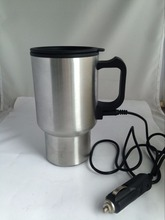 Car Electric Travel Mug 12V Insulated Stainless Steel Heated Cup Thermos