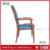 HB-727 stripe design fabric upholstered seat aluminum arm banquet chair dome