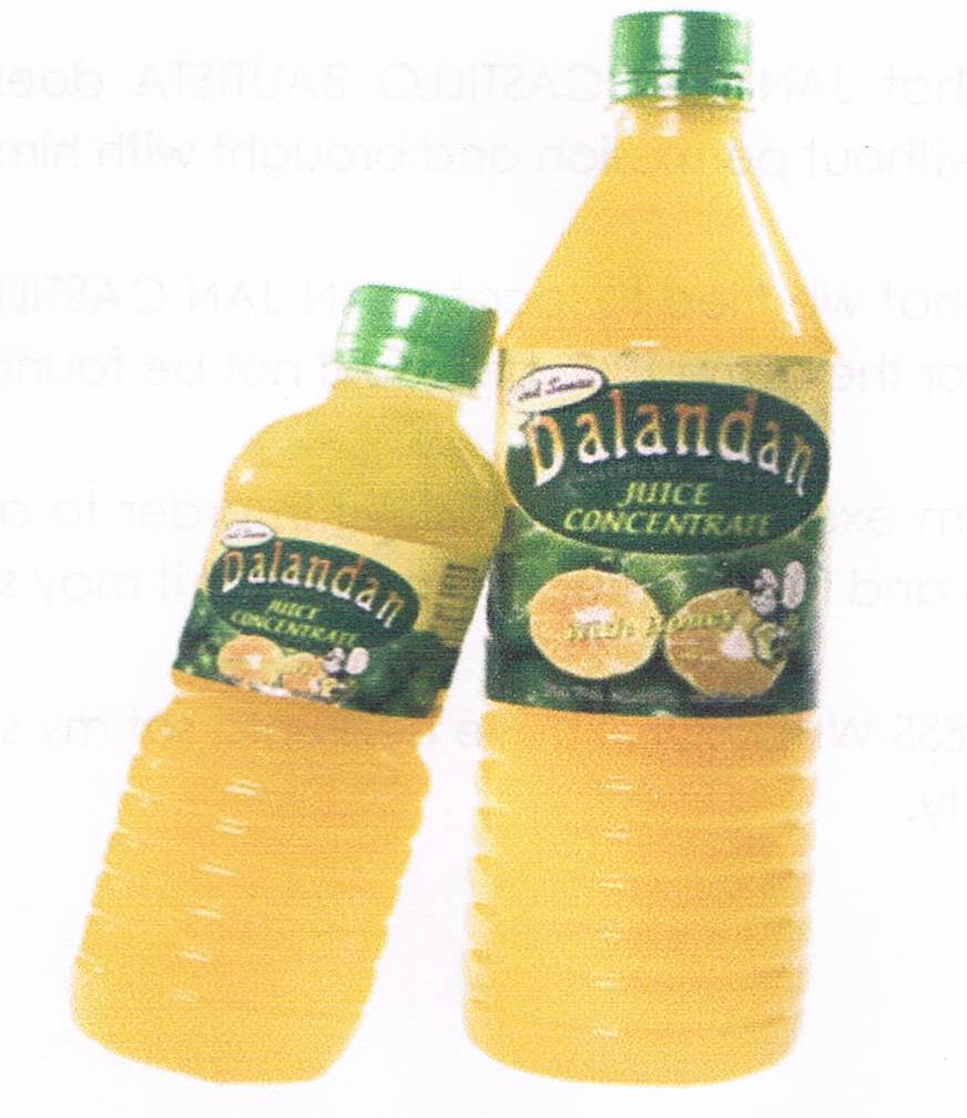 Dalandan Philippine Orange with honey