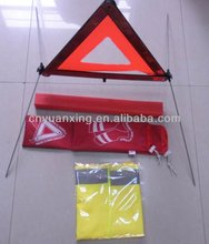 auto road tool,car warning triangle and reflective vest