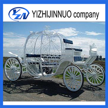 Yizhinuo cinderella horse carriage wedding pumpkin cart/buggy horse carriage