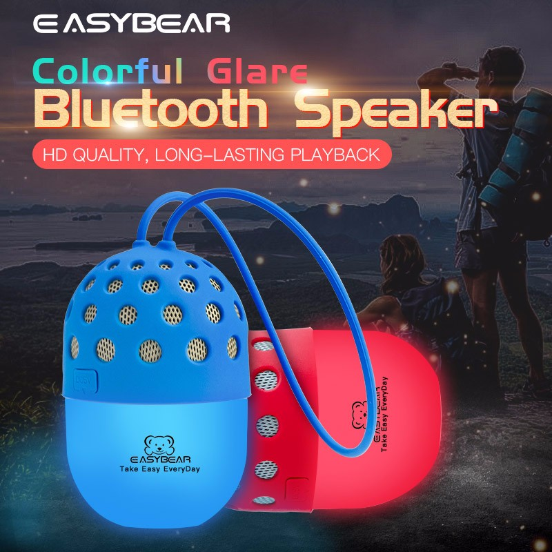 Own Brand Wireless Stereo Bluetooth Speaker Creative Mini Audio Outdoor Riding LED Lights Flashing Lights Portable Speaker