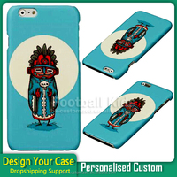 Custom design water transfer printing plastic phone back case for iphone 6 6s