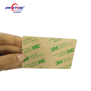 13.56mhz printable Thermal card with 3m sticker paper rfid ic card