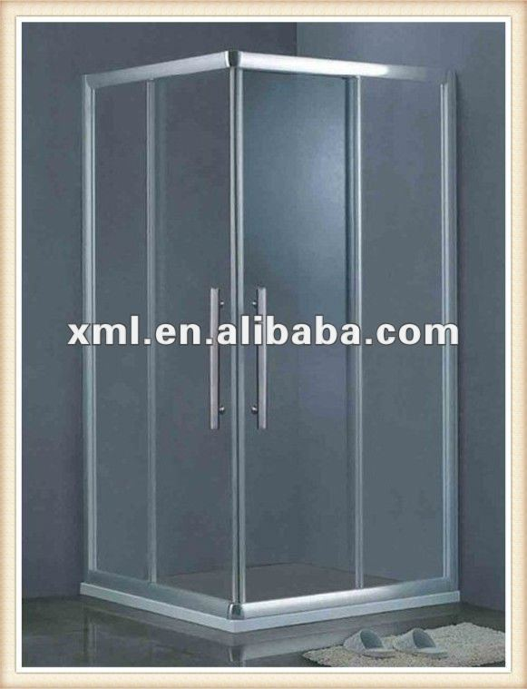 AS-L037 shower room with tempered glass back steam shower cabin