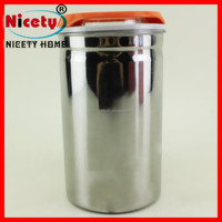 Functional portable custom made stainless steel airtight storage can coffee with lid