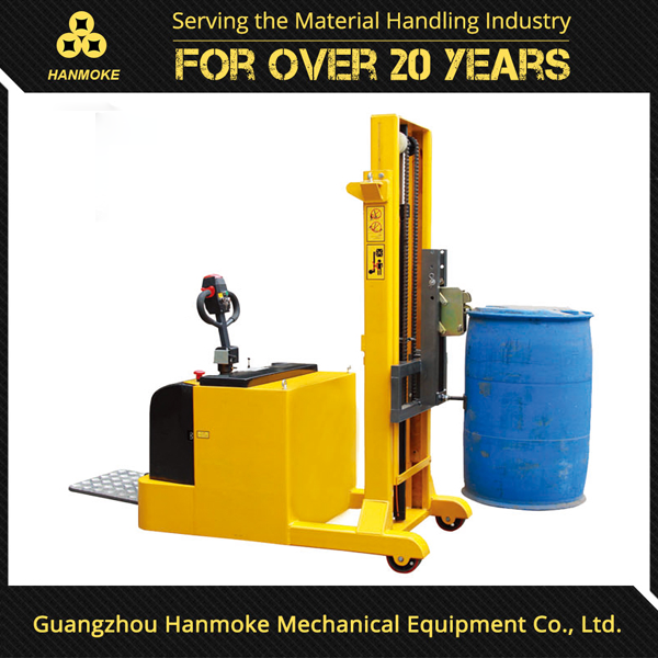 Hanmoke 2400 height electric oil drum lifter for drum lifting