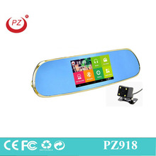 MP5 Bluetooth gps navigation Android 5 inch dual camera rearview mirror car video recorder