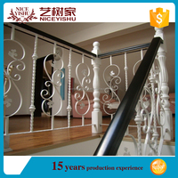 hand forged railing for home, garden, villa/ factory sale outdoor wrought iron stair railing/balcony railing for veranda