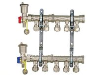 5 way copper water manifolds with mini ball valves(ZL-1368)