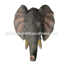High Quality Elephant head Statues Resin Animal Head Wall Decoration