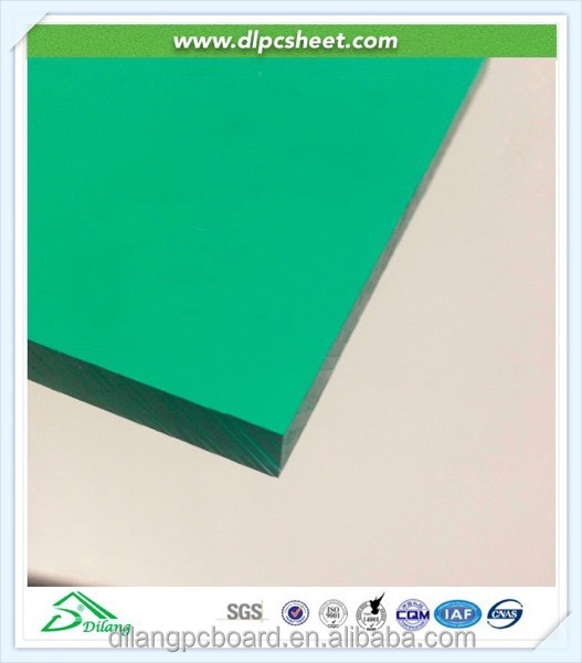 Green Polycarbonate Heat Resistant Roofing Sheets with UV Coating Protection