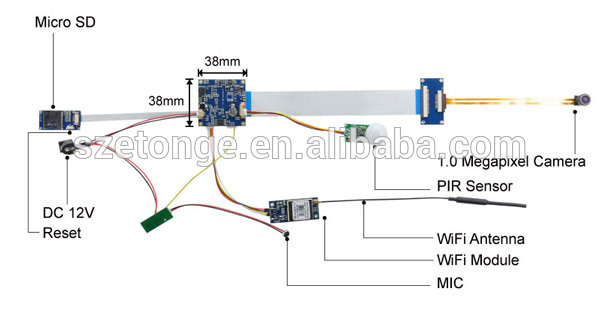 Diy Recordable Wireless Access Cctv Ip Camera Module