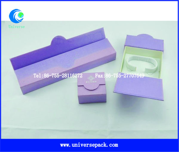 Jewelry Packing Paperboard Purple Used Wholesale Boxes For Customized