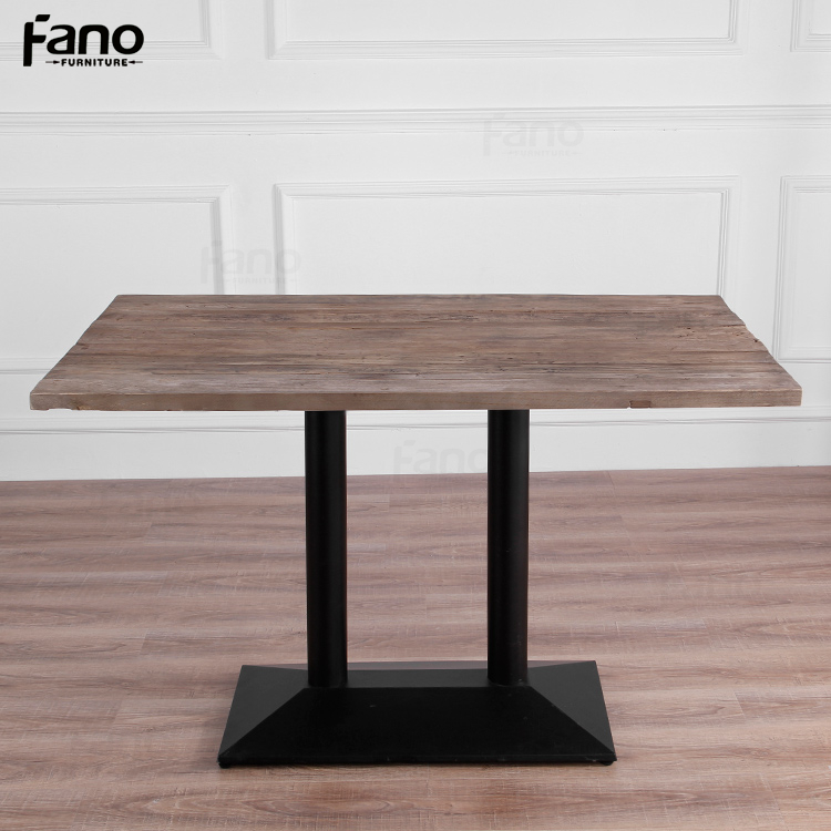 factory price rustic vintage industrial wood metal dining table