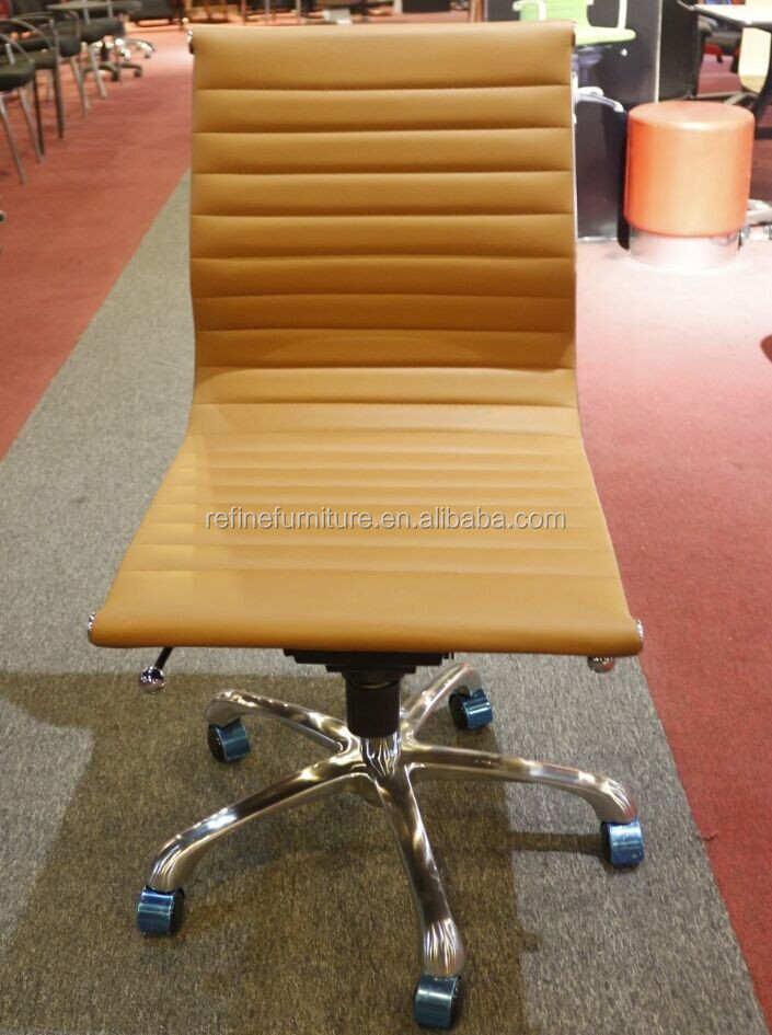 Modern Amless Leather Office Chair For Motel Real Photos P01 Jpg