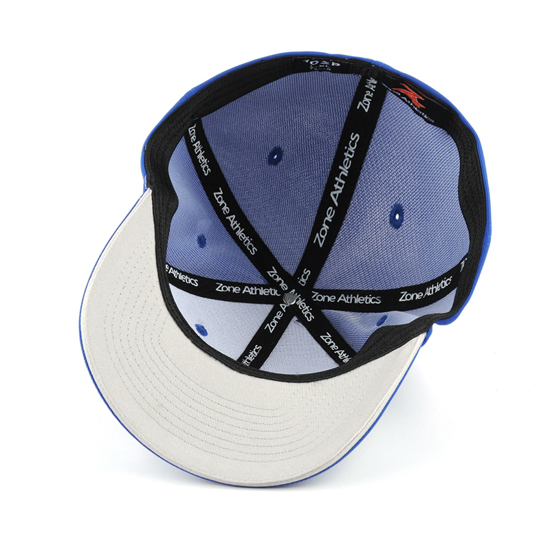 Full size elastic embroidery baseball cap with sandwich curved brim