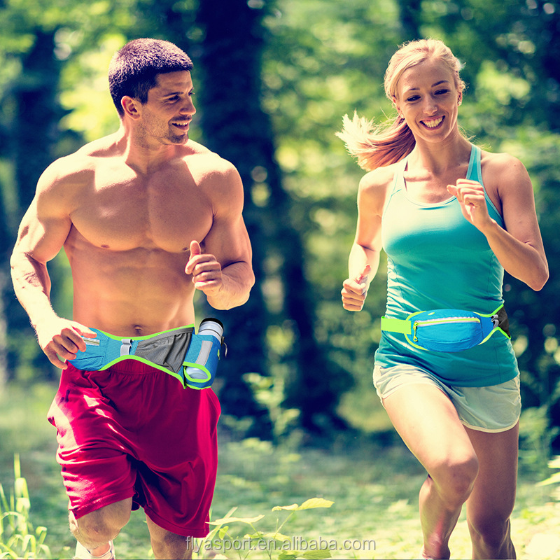 Amazon new product Unisex Gender and Polyester Material sports running belt with water bottle holder