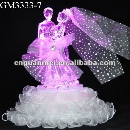 beautiful wedding gift glassware with led light