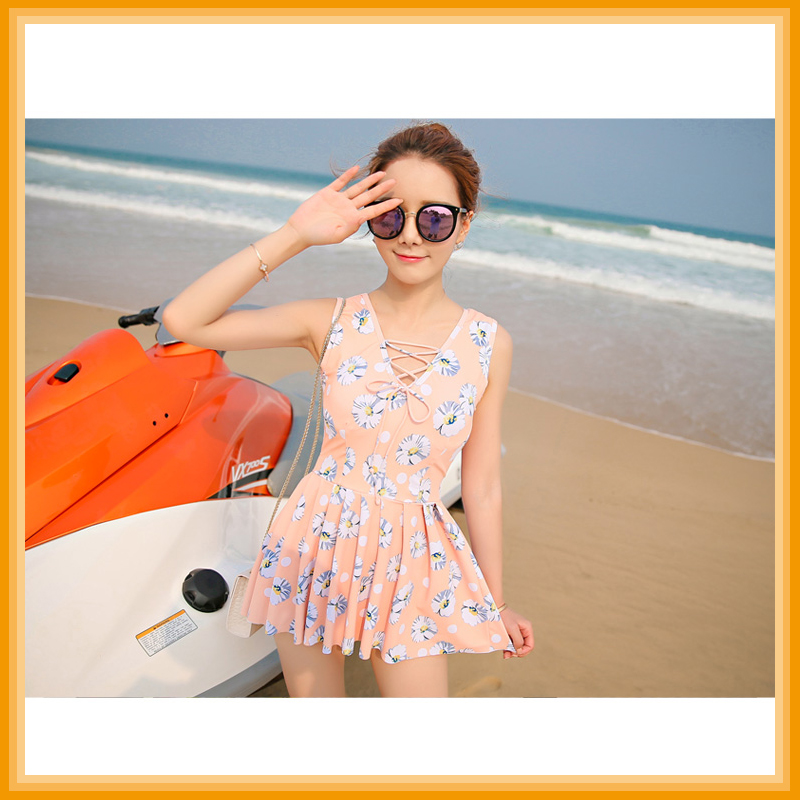 Fat women one-pieces dress swimwear Flat swimsuit