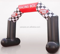 Racing box inflatable arch, stable inflatable archway