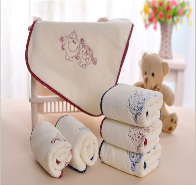 quick dry absorbent small disposable cotton hand towel 25*50cm