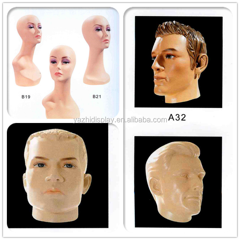 Hot Selling Male Hair Mannequin Head Human Hair Practice Styling Head