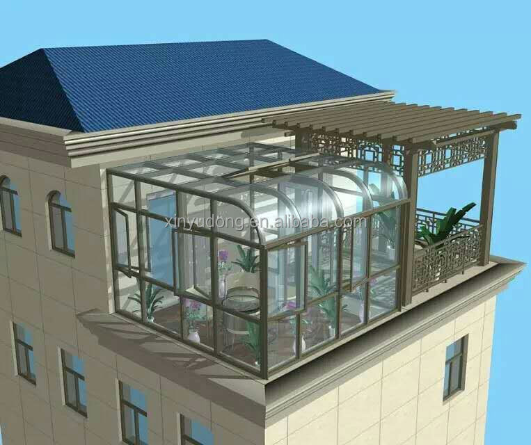 2016 popular design Aluminum alloy frame sunroom