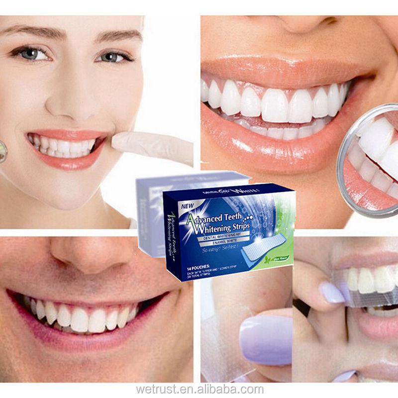 14pcs/Pack Teeth Whitening Strips Gel Strips and Dry Strips 14pcs/Pack Dental Care Tooth Whiten Strips