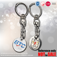 iron stamped trolley coin keychain, keyring