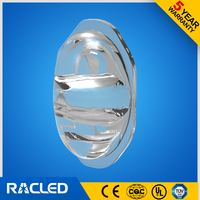 LED glass lens fo led project lamp specturum 150*75 degree