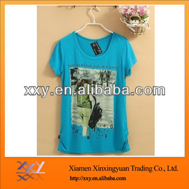 Tshirt Used Clothing Beautiful Short- Sleeve Printing