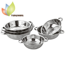 Multi-purpose Stainless Steel Rice Fruit Colander/ Strainer/Basket