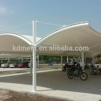 PVDF Car Parking Shed Tensile Fabric Structure