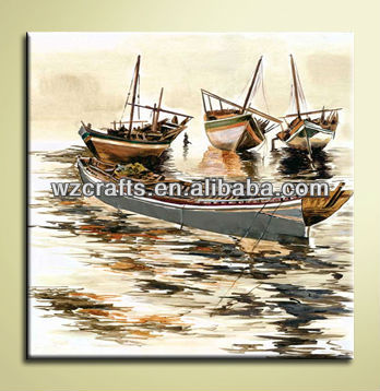 Beautiful Handmade Oil Paintings of Boats